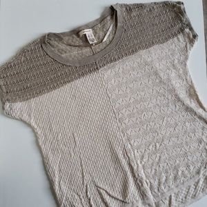 DKNY Jeans Short Sleeved Sweater Tan Small